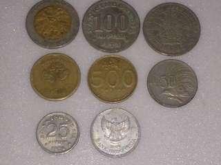 Uang Jadul 1000,500,100,50,25 Original.