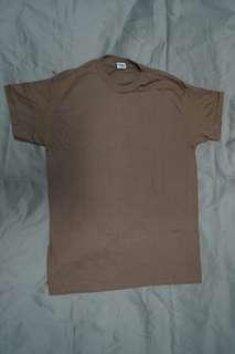 全新軍發真品美軍深啡色圓領速乾 T 恤 US ARMY Brown Color Crew Neck Tee 1 件