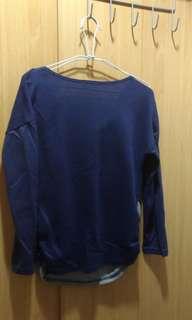 🚚 斜紋藍長袖