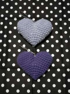 Twin Amigurumi Hearts