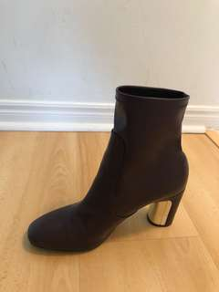 Zara Dark Purple Booties