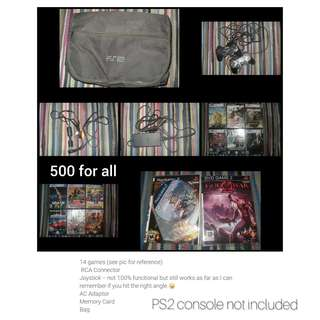 PS2 PERIPHERALS AND GAMES