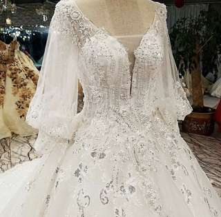 White Crystal Wedding Gown