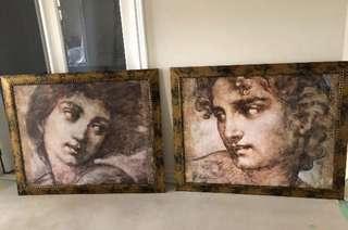 Two Antique Framed Artwork
