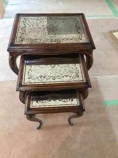 Antique Side Table Set