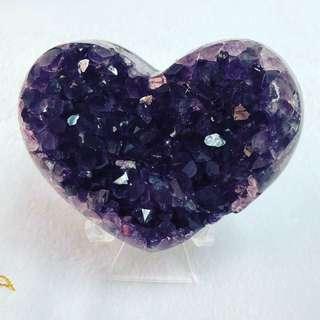 紫水晶愛心315g