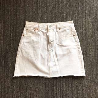 Levi's White Denim Skirt