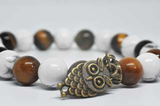 Tigers eye and howlite Bracelet
