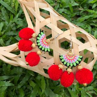 Hera Pompom Earrings
