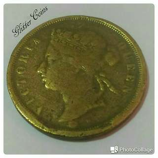 Sharing: Gold 1875 Queen Elizabeth and 1885 C.Brooke Rajah