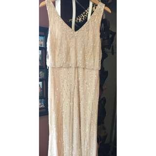 Adrianna Papell Brooklyn Dress - Champagne (Size 10)