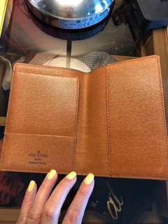 LV Louis Vuitton passport holder not sure if authentic