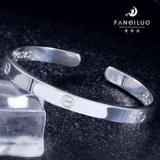 Pure Silver 999 Cartier Open-End Bracelet
