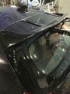 bmw 118i 116i hatch spoiler carbon