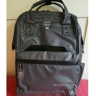 PVC Authentic Anello Leather Backpack/ Grey.