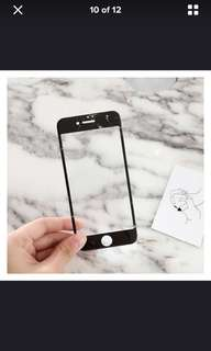 Black Marble Screen Protector ( ip7+ , ip8+ )