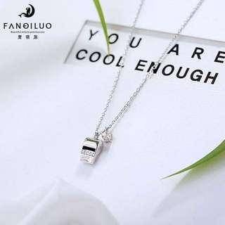 S925 Celebrity Edition Whistle Pendant Necklace(Silver Color)