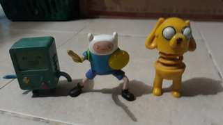 Adventure Time Finn Jake BMO action figure