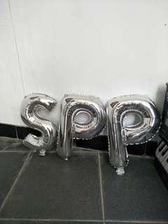 Balon huruf S.P. P