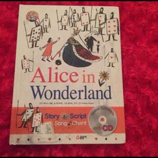 •used• Alice in the Wonderland with Audio Book