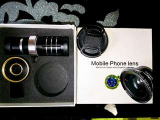 smartphone lense wide and zoom