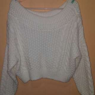 Knitted cropped long sleeve