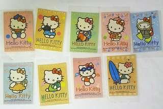 全新正版早期精品 HELLO KITTY 杯麵貼紙9張 啤牌 memo紙包郵