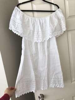 ASOS Off shoulder linen dress