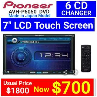 "Brand new]  PIONEER AVH-P6050DVD 7"" TOUCHSCREEN DVD Player +  IPOD Ready. Usual Price: $1800 Clerance price $ 700  (Brand new in box & sealed - Clerance Set without warranty)  whatsapp 85992490 to pick up Today. 2 sets left"