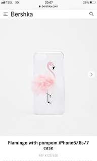 Flamingo with Pompom iPhone Case 6/6s/7