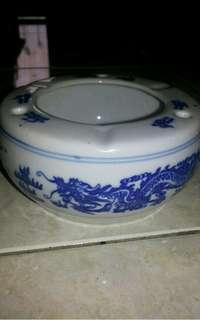 Keramik Unik Vintages Asbak Motif Naga Laut (free ongkir 10rb)