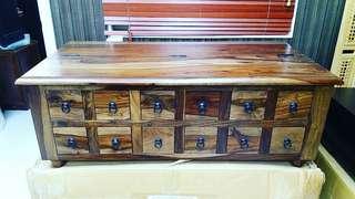 全新實木原木櫃