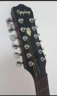 Rare - Epiphone 12 String Electro Acoustic Guitar
