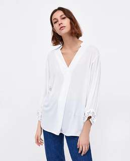 Europe and the United States women's new pearl decorative loose blouse shirt 2