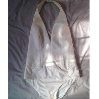 Bardot White Halterneck Bodysuit