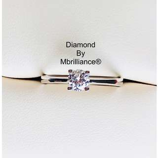 Authentic Diamond solitaire engagement ring by Mbrilliance