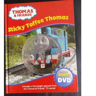 Good condition Thomas & Friends book - Sticky Toffee Thomas book + DVD