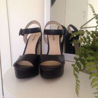 Miss Shop Black Platform High Heels