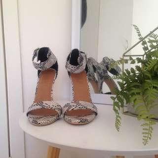 Rubi Shoes Snake Print Heels