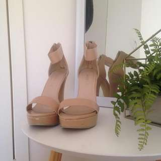 Wildfire Nude Semi-Platform Heels