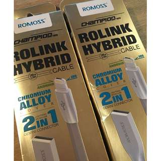 ROMOSS Rolink Hybrid 2-in-1 Cable