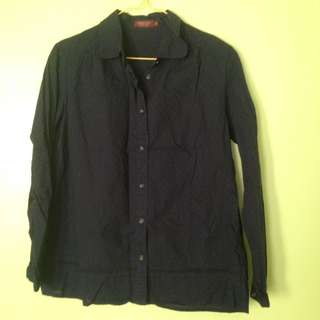 Black office blouse