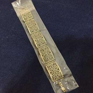Bronze brass gold filigree bracelet USA Macy's