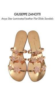 Giuseppe Zanotti Design Anya Star rose gold sandals
