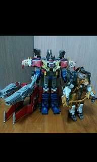 transformers galaxy convoy with additional