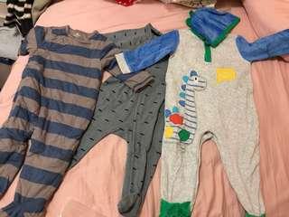 嬰兒連身衫x3