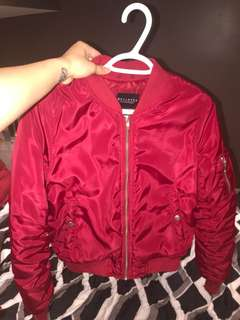 XS RED BOMBER JACKET