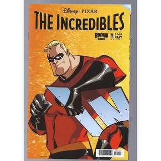 Boom Studios 2009 Disney Pixar The Incredibles #1 Set of 4 Connecting Covers NM/NM+ Unread