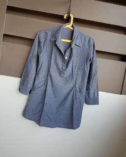 Semi maong top