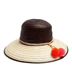 New Sophie Anderson Pom pom Rafia hat
